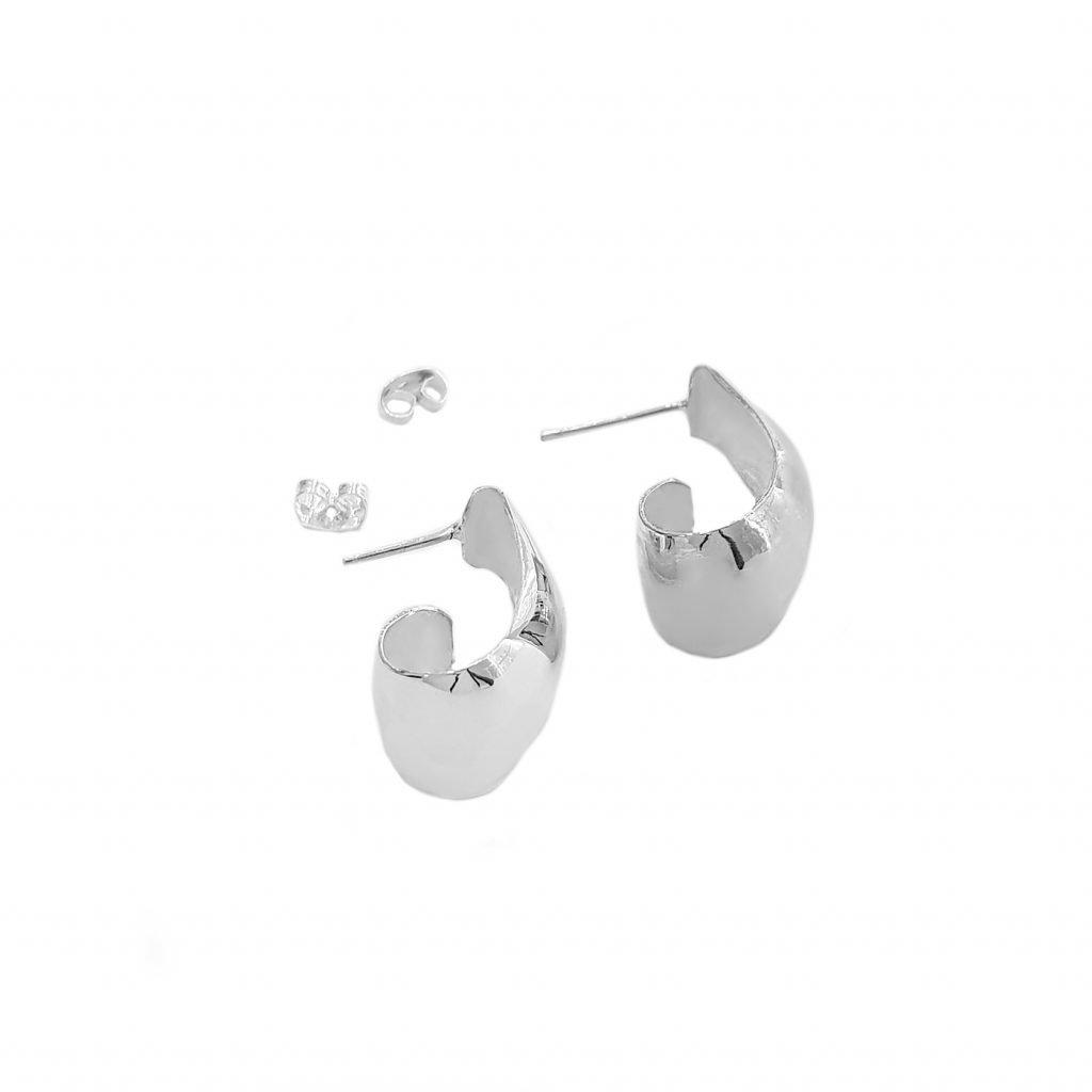 Pendiente de plata-p048
