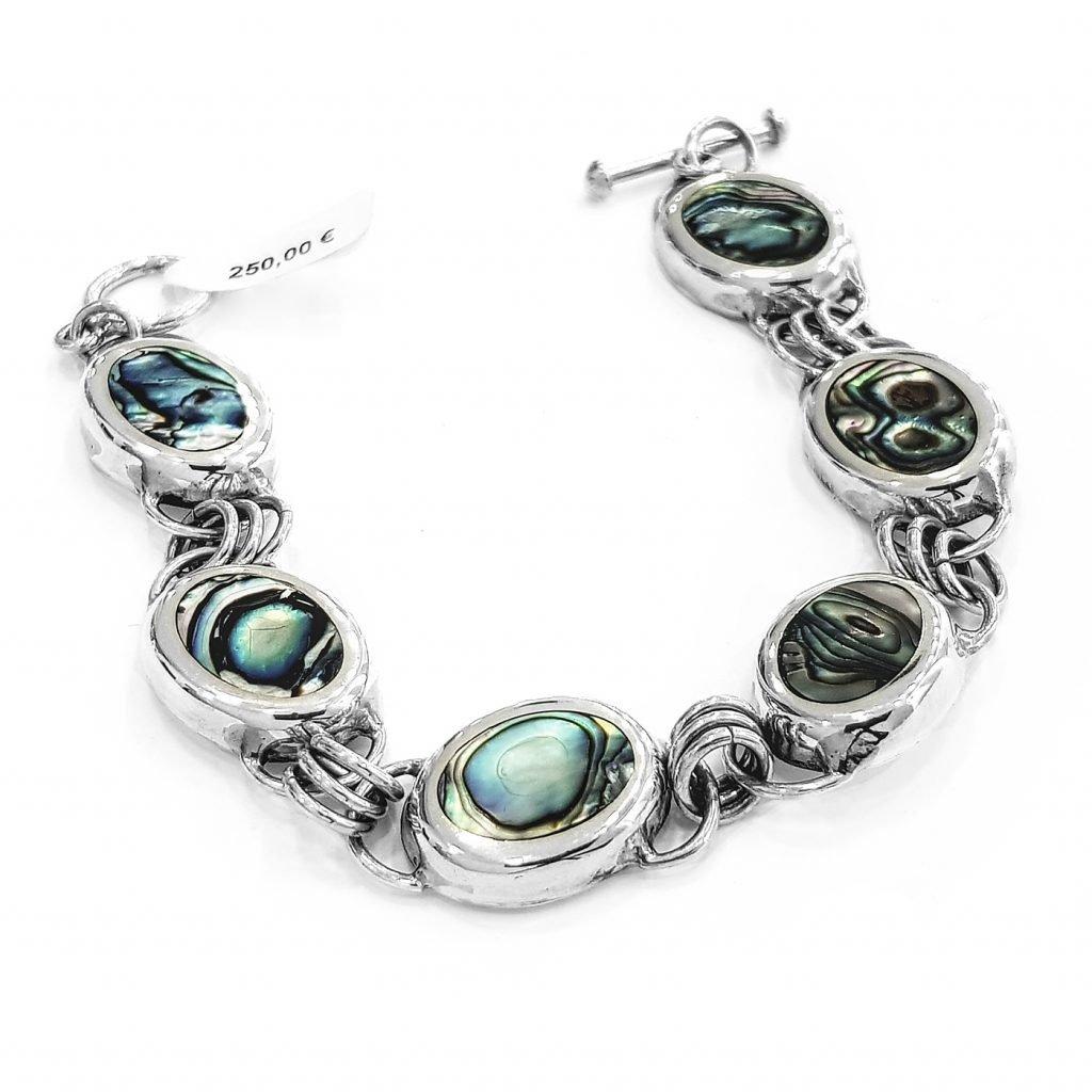 pulsera de plata-p077
