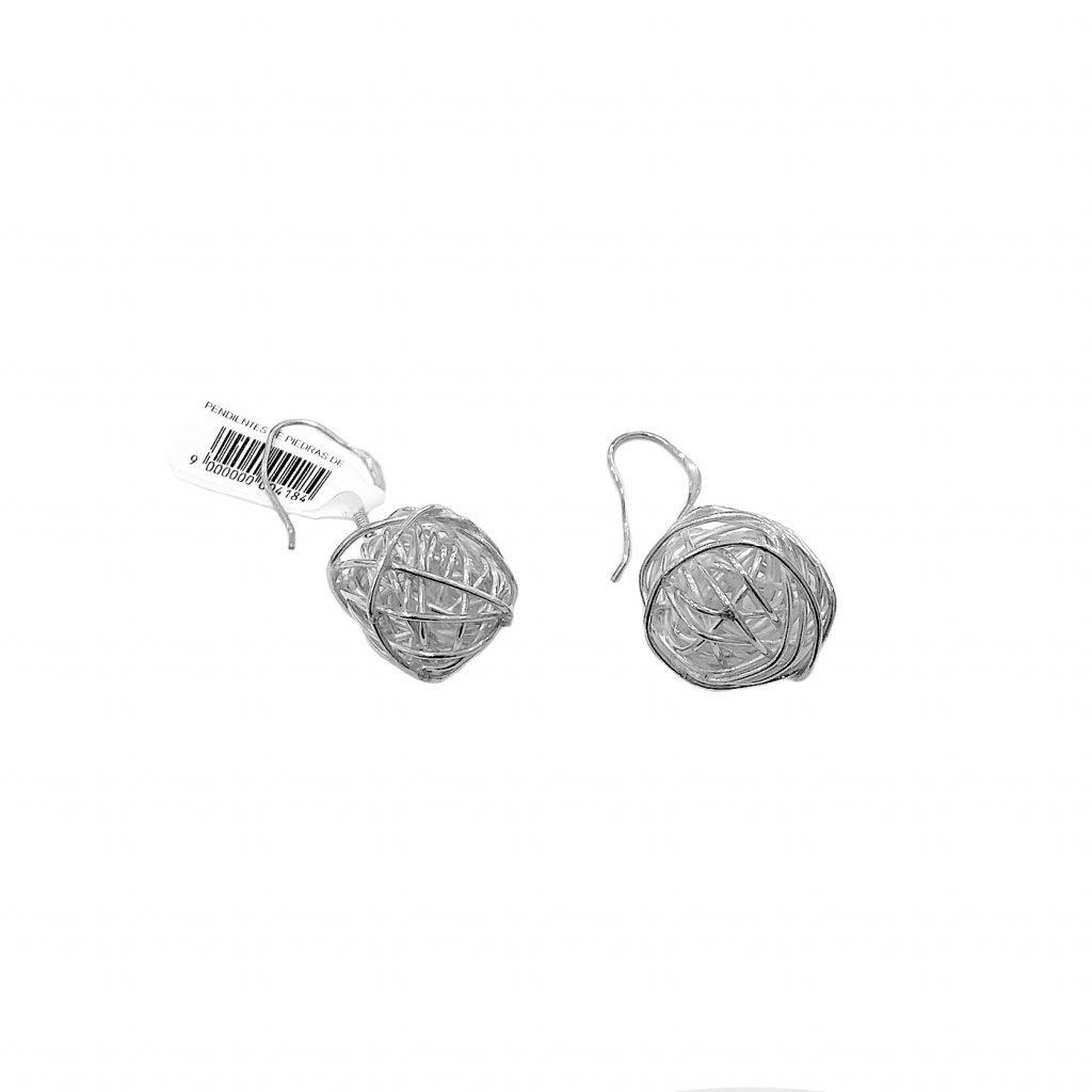 Pendiente de plata-p0103